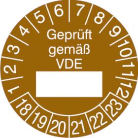 Prüfplakette Geprüft gemäß VDE