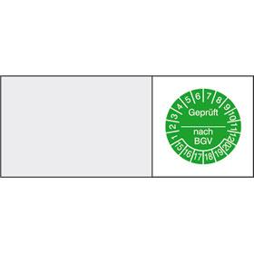 Kabelpr�fplakette - Gepr�ft... nach BGV in Jahresfarbe