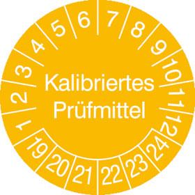 Prüfplakette Kalibriertes Prüfmittel
