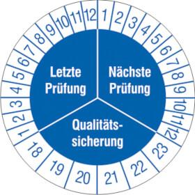 Prüfplakette Qualitätssicherung
