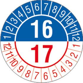 Pr�fplakette 2- Jahresplakette mit 2-stellige Jahreszahl