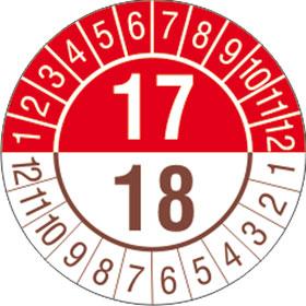 Prüfplakette 2- Jahresplakette mit 2-stellige Jahreszahl
