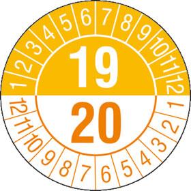 Prüfplakette 2- Jahresplakette mit 2-stelliger Jahreszahl