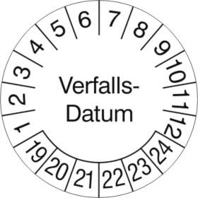 Prüfplakette Verfalls-Datum