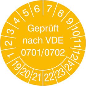 Prüfplakette Geprüft nach VDE 0701/0702