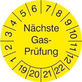 Prüfplakette Nächste GasPrüfung