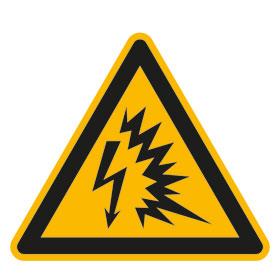 Warnschild Warnung vor Lichtbogen