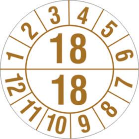 Prüfplakette Halbjahresplakette mit 2-stelliger Jahreszahl,