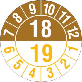 Prüfplakette Halbjahresplakette mit 2-stelliger Jahreszahl, jahresübergreifend