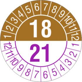 Prüfplakette 3- Jahresplakette mit 2-stelliger Jahreszahl
