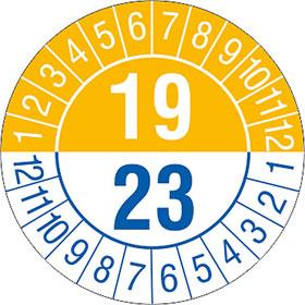 Prüfplakette 4- Jahresplakette mit 2-stelliger Jahreszahl
