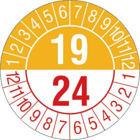 Prüfplakette 5- Jahresplakette mit 2-stelliger Jahreszahl