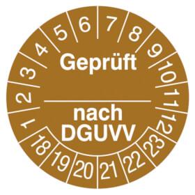 Prüfplakette Geprüft nach ...DGUV V