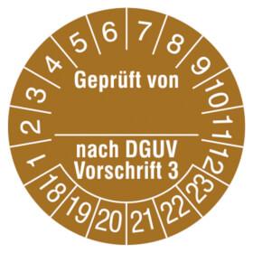 Prüfplakette Geprüft von_ nach DGUV Vorschrift 3