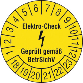 Prüfplakette Elektro-Check