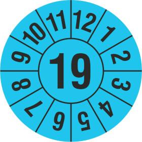 Prüfplakette Jahresplakette mit 2-stelliger Jahreszahl