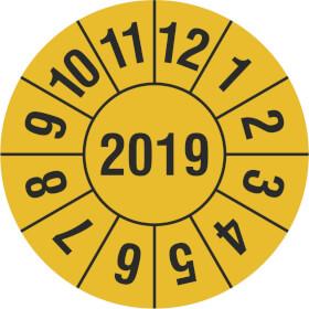 Prüfplakette Jahresplakette mit 4-stelliger Jahreszahl