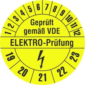 Prüfplakette Geprüft gemäß VDE - ELEKTRO PRÜFUNG