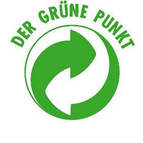 Verpackungskennzeichnung - Aufkleber - Der Grüne Punkt -