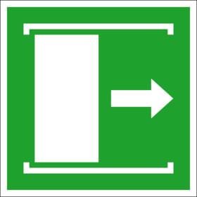 Fluchtwegschild - langnachleuchtend Schiebetür öffnet nach rechts