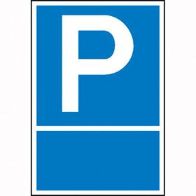 Parkplatzschild Symbol: P, mit Freifl�che zur Selbstbeschriftung