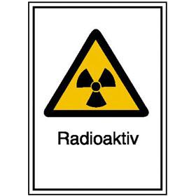 Warn-Kombischild - Strahlenschutz Radioaktiv