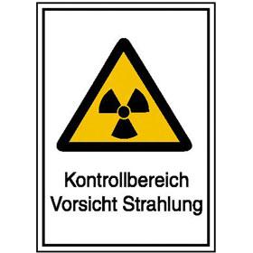 Warn-Kombischild - Strahlenschutz Kontrollbereich Vorsicht Strahlung
