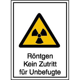 Warn-Kombischild - Strahlenschutz Röntgen Kein Zutritt für Unbefugte