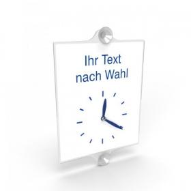 Hinweisschild - Gewerbe und Privat Ladentürschild mit Uhranzeige