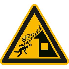 Warnschild Warnung vor Dachlawine