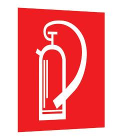 Brandschutzschild - Fahne - langnachleuchtend Feuerlöscher