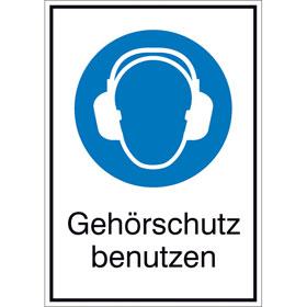 Gebots-Kombischild Gehörschutz benutzen