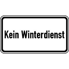 Zusatzzeichen Nr. 2026 Kein Winterdienst