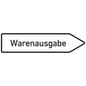 Innerbetrieblicher Wegweiser rechts Warenausgabe