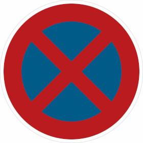 Verkehrszeichen - StVO Absolutes Haltverbot