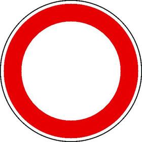 Verkehrszeichen - StVO Verbot für Fahrzeuge aller Art