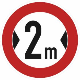 Verkehrszeichen - StVO Verbot für Fahrzeuge über bestimmte Breite