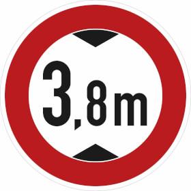 Verkehrszeichen - StVO Verbot für Fahrzeuge über bestimmte Höhe