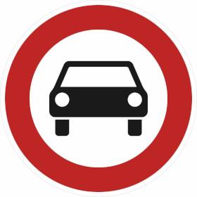 Verkehrszeichen - StVO Verbot für mehrspurige Kraftfahrzeuge