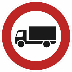 Verkehrszeichen - StVO Verbot für Lastkraftwagen über 3,5t