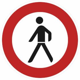 Verkehrszeichen - StVO Verbot f�r Fu�g�nger