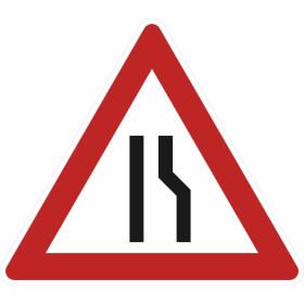 Verkehrszeichen - StVO Einseitig rechts verengte Fahrbahn