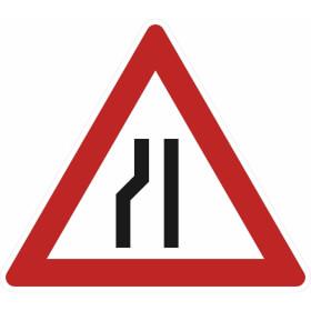 Verkehrszeichen - StVO Einseitig links verengte Fahrbahn