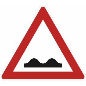 Verkehrszeichen - StVO Unebene Fahrbahn (Temposchwelle, Fahrbahnschwelle, Bremsschwelle)