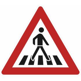 Verkehrsschild nach StVO - Nr. 145-12 Fußgängerüberweg (Aufstellung links)