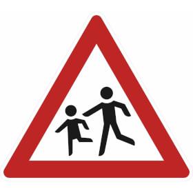 Verkehrszeichen - StVO Kinder (Aufstellung rechts)