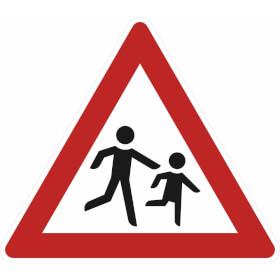 Verkehrszeichen - StVO Kinder (Aufstellung links)