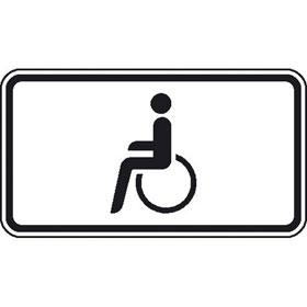 Zusatzzeichen - StVO Nur Schwerbehinderte