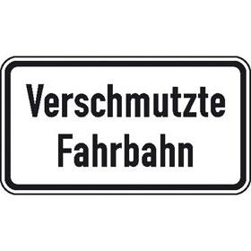 Verkehrsschild nach StVO / Typ 1, Nr. 1006-35 Verschmutzte Fahrbahn