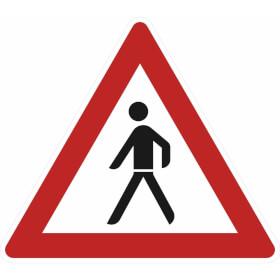 Verkehrszeichen - StVO Fußgänger (Aufstellung rechts)